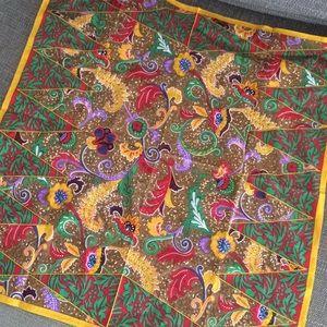 KENZO cotton bandana ethnic paisley print scarf